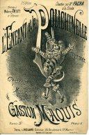 PARTITION CAF CONC L'ENFANT ET LE POLICHINELLE GASTON MAQUIS 1882 AMIATI GABRIELLE CHALON PACRA ILL DENIS - Music & Instruments