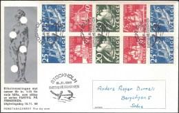 Sweden - FDC 15/11 1966 Fartyg På Frimärken *ILLUSTRATED* - FDC