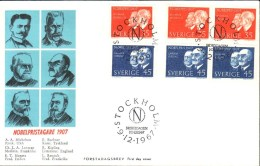Sweden - FDC 9/12 1967 1907 års Nobelpristagare *ILLUSTRATED* - FDC