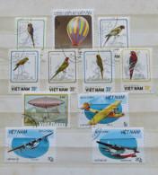 Vietnam 1987 - 1988 Birds Parrots Planes Balloons Hydroplanes - Viêt-Nam