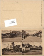 378915,Serbia Nisch Nis Brücke Bahnhof Kathedrale Mackensenstraße Mehrbildkarte - Serbien