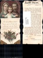 380904,Andachtsbild Heiligenbildchen Jesus Maria Josef Stechpalmenzweig Goldverzierun - Images Religieuses
