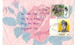 19A: Malaysia Agong King With Headgear Costume,butterfly Stamp On Cover - Maleisië (1964-...)