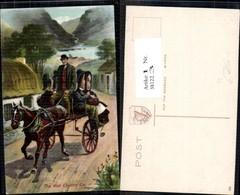 381223,Künstler Ak John Curey Kutsche Irish Country Car - Taxi & Carrozzelle