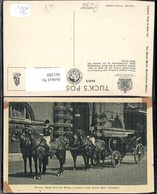 381200,Kutsche Royal Semi-State Road Landau And Four Bay Horses Pferde - Taxi & Carrozzelle