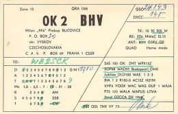Amateur Radio QSL Card - OK2BHV - Czechoslovakia - 1969 - Radio Amateur