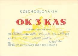 Amateur Radio QSL Card - OK3KAS - Czechoslovakia - 1968 - Radio Amateur