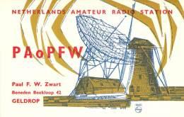 Amateur Radio QSL Card - PA0PFW - Netherlands - 1969 - 2 Scans - Radio Amateur