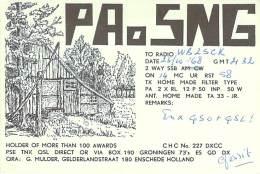 Amateur Radio QSL Card - PA0SNG - Holland/Netherlands - 1968 On 14MHz - Radio Amateur