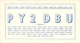 Amateur Radio QSL Card - PY2DBU - Brazil - 1967 - 2 Scans - Radio Amateur