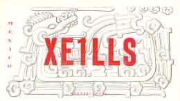 Amateur Radio QSL Card - XE1LLS - Mexico - 1969 - 2 Scans - Radio Amateur