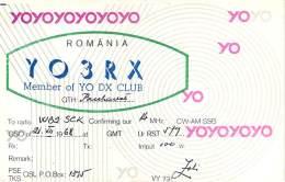 Amateur Radio QSL Card - YO3RX - Romania - 1968 - Radio Amateur