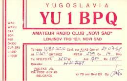 Amateur Radio QSL Card - YU1BPQ Radio Club - Yugoslavia - 1968 - Radio Amateur