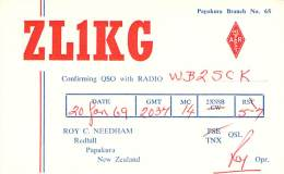 Amateur Radio QSL Card - ZL1KG - Papakura, New Zealand - 1969 - Radio Amateur