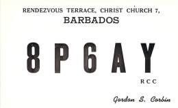 Amateur Radio QSL Card - 8P6AY - Christ Church, Barbados - 1968 - 2 Scans - Radio Amateur