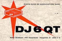 Amateur Radio QSL Card - DJ6QT - Germany - Oct 1968 On 21MHz SSB - 2 Scans - Radio Amateur
