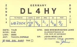 Amateur Radio QSL Card - DL4HY - Germany - 1969 - Radio Amateur