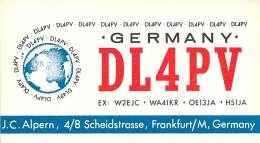 Amateur Radio QSL Card - DL4PV - Germany - 1968 - 2 Scans - Radio Amateur