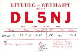 Amateur Radio QSL Card - DL4NJ - Bitburg, Germany - 1968 - 2 Scans - Radio Amateur