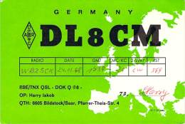 Amateur Radio QSL Card - DL8CM - Germany - 1968 - Radio Amateur