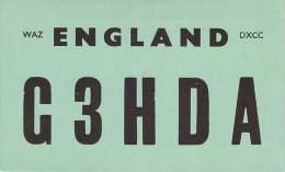 Amateur Radio QSL Card - G3HDA - England - 1968 - 2 Scans - Radio Amateur