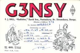 Amateur Radio QSL Card - G3NSY - England - 1968 - Radio Amateur
