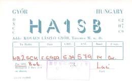 Amateur Radio QSL Card - HA1SB - Hungary - 1969 On 14MHz - Radio Amateur
