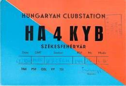Amateur Radio QSL Card - HA4KYB - Hungary Club Station - May 1969 - 2 Scans - Radio Amateur