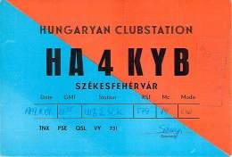Amateur Radio QSL Card - HA4KYB - Hungary Club Station - March 1969 - 2 Scans - Radio Amateur