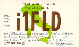 Amateur Radio QSL Card - I1FLD - Pescara, Italy - Oct 1968 On 21MHz - Radio Amateur