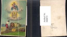 388873,Andachtsbild Heiligenbildchen Kirche Bauer M. Ochsenpflug - Images Religieuses