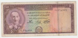 "Afghanistan 50 Afghanis 1954 SH 1333 ""aF"" Pick 33b  33 B - Afghanistán"