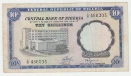 Nigeria 10 Shillings 1968 VF+ Pick 11b  11 B - Nigeria