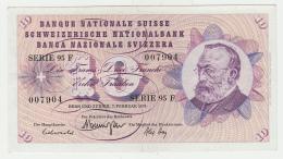 Switzerland 10 Franken 1974 AXF CRISP Banknote Pick 45u  45 U - Swaziland