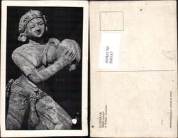 390347,India Konarak Main Temple Tempel A Female Musician Frau Statue - Indien