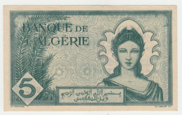 ALGERIA 5 Francs 1942 XF+ AUNC Pick 91 - Algeria