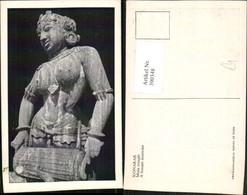 390348,India Konarak Main Tempel Tempel A Female Muisician Frau Statue - Indien