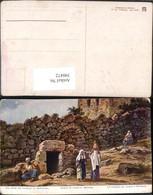 390472,Künstler AK Palestine Palästina Bethanien Bethany Grave Grab Des Lazarus - Ansichtskarten
