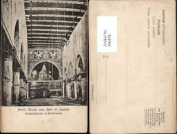 390370,Palestine Palästina Westjordanland Bethlehem Geburtskirche Kirche Innenansicht - Ansichtskarten