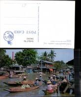 390393,Thailand Bangkok Floating Market Wat Sye Markt Boote - Thaïland