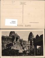 390484,Cambodia Kambodscha Siem Reap Angkor Wat Tempel Escalier Central Stiege - Ansichtskarten