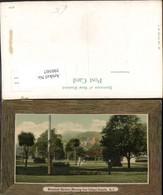 390507,New Zealand Neuseeland Dunedin Botanical Gardens Knox College Passepartout - Ansichtskarten