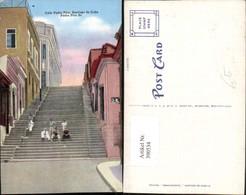 390534,Cuba Santiage De Cuba Calle Padre Pico Stiege - Ansichtskarten