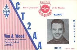 Amateur Radio QSL Card - CT2AA - Terceiro Island, Azores - 1968 - 2 Scans - Radio Amateur