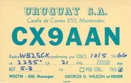 Amateur Radio QSL Card - CX9AAN - Montevideo, Uruguay - 1966 - Radio Amateur