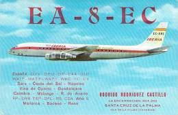 Amateur Radio QSL Card - EA8EC - Canary Islands - 1968 - 2 Scans - Radio Amateur