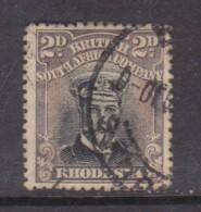 Rhodesia / B.S.A.Co. Admiral, 1913, 2d Greenblack & Sepia, Die IIi,  Perf 14, Used - Southern Rhodesia (...-1964)