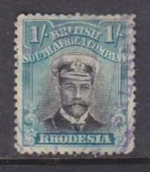 Rhodesia / B.S.A.Co. Admiral, 1913, 1/= Die II,  Perf 14, Used, Fiscally - Rhodésie Du Sud (...-1964)