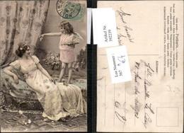 392239,Künstler AK Frau M. Kleid Engel - Engel
