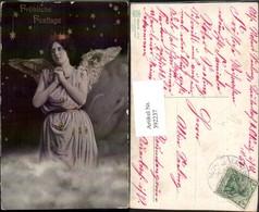 392237,Fröhliche Festtage Engel B. Beten Krone Sterne - Engel